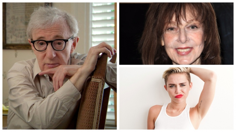 Elaine May e Miley Cyrus no elenco da série de Woody Allen